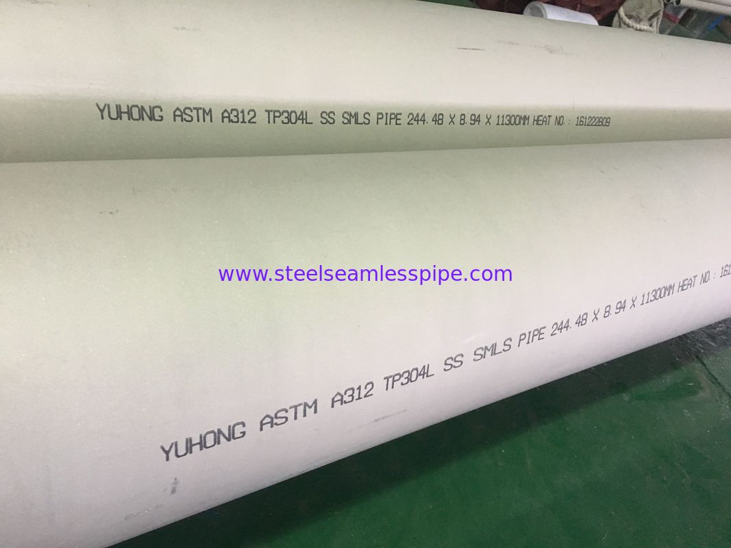 Stainless Steel Seamless Pipe, ASTM A312 TP304L/1.4301 / 1.4306 / 1/4307 ,Screen Application, Water Quenching